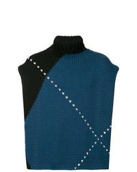 Jersey de cuello alto en multicolor de Raf Simons