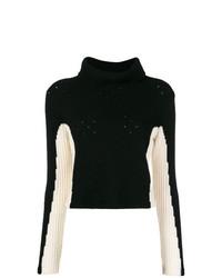 Jersey de cuello alto en negro y blanco de Cashmere In Love