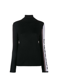 Jersey de cuello alto en negro y blanco de Iceberg