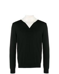 Jersey de cuello alto en negro y blanco de Kenzo
