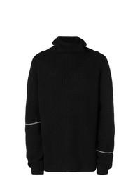 Jersey de cuello alto en negro y blanco de Lost & Found Rooms