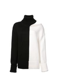 Jersey de cuello alto en negro y blanco de Monse