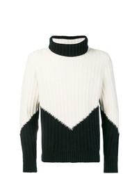 Jersey de cuello alto en negro y blanco de Mp Massimo Piombo