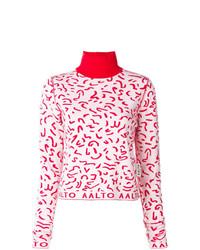 Jersey de cuello alto en rojo y blanco de Aalto