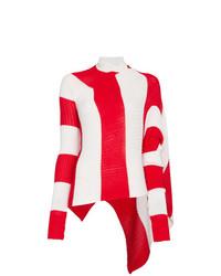 Jersey de cuello alto en rojo y blanco de MARQUES ALMEIDA