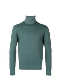 Jersey de cuello alto en verde azulado de Cruciani