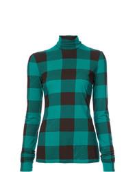 Jersey de cuello alto en verde azulado de Proenza Schouler