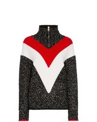 Jersey de cuello alto en zig zag negro de Givenchy