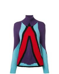 Jersey de cuello alto estampado en multicolor de Bottega Veneta