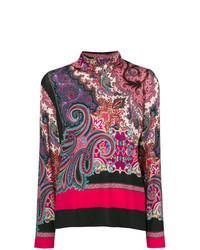 Jersey de cuello alto estampado en multicolor de Etro