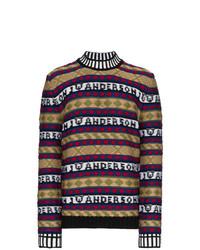 Jersey de cuello alto estampado en multicolor de JW Anderson
