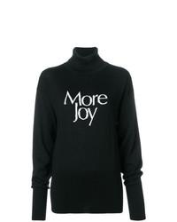 Jersey de cuello alto estampado en negro y blanco de Christopher Kane
