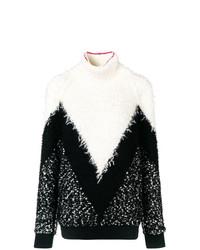 Jersey de cuello alto estampado en negro y blanco de Givenchy