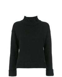 Jersey de cuello alto estampado en negro y blanco de Uma Raquel Davidowicz