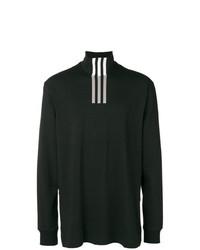 Jersey de cuello alto estampado en negro y blanco de Y-3