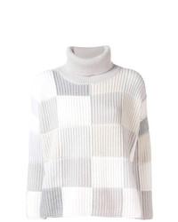 Jersey de cuello alto estampado gris de Cruciani