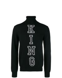 Jersey de cuello alto estampado negro de Dolce & Gabbana