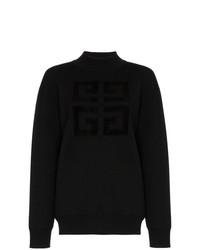 Jersey de cuello alto estampado negro de Givenchy