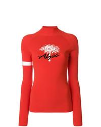 Jersey de cuello alto estampado rojo de Alyx
