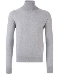 Jersey de cuello alto gris de AMI Alexandre Mattiussi