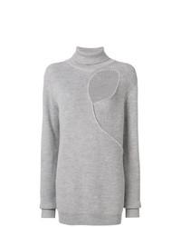 Jersey de cuello alto gris de Esteban Cortazar