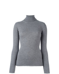 Jersey de cuello alto gris de Fashion Clinic Timeless