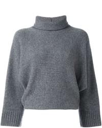 Jersey de cuello alto gris de Forte Forte