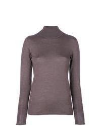 Jersey de cuello alto gris de Le Tricot Perugia
