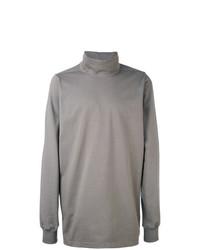 Jersey de cuello alto gris de Rick Owens