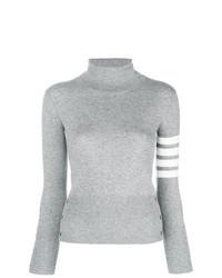 Jersey de cuello alto gris de Thom Browne