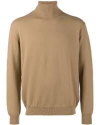 Jersey de cuello alto marrón claro de Balenciaga