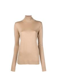 Jersey de Cuello Alto Marrón Claro de Barbara Bui