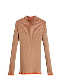 Jersey de cuello alto marrón claro de Burberry