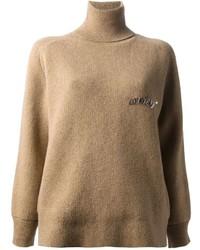 Jersey de cuello alto marrón claro de Golden Goose Deluxe Brand