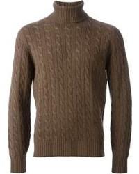 Jersey de cuello alto marrón