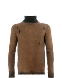 Jersey de cuello alto marrón de Avant Toi
