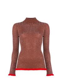 Jersey de cuello alto marrón de Chloé