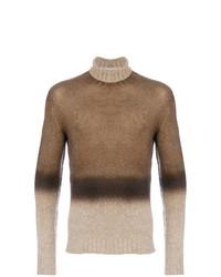 Jersey de cuello alto marrón de Etro