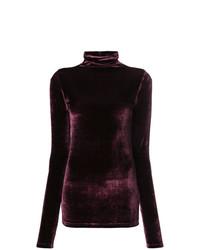 Jersey de cuello alto morado oscuro de Unravel Project
