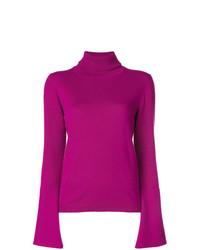 Jersey de cuello alto morado de Antonia Zander