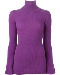Jersey de cuello alto morado de Stella McCartney
