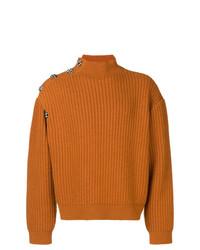 Jersey de cuello alto mostaza de Raf Simons