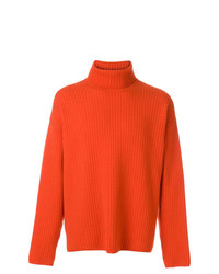 Jersey de cuello alto naranja de AMI Alexandre Mattiussi