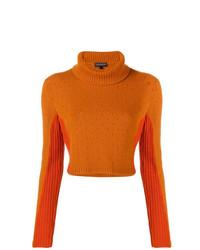 Jersey de cuello alto naranja de Cashmere In Love