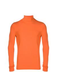 Jersey de cuello alto naranja de Raf Simons