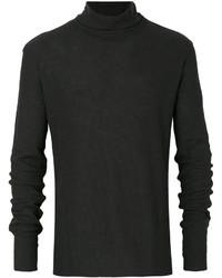 Jersey de Cuello Alto Negro de Ann Demeulemeester