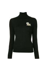 Jersey de cuello alto negro de Boutique Moschino
