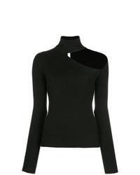Jersey de cuello alto negro de Dion Lee