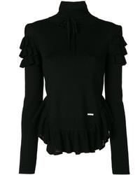 Jersey de Cuello Alto Negro de Dsquared2