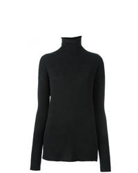 Jersey de cuello alto negro de Fashion Clinic Timeless